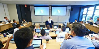 Global Executive MBA Classroom - 1 of 6 modules that go to countries like China, India, Hungary, Italy, Brazil, Turkey, and the UAE