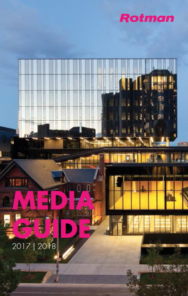 Download a copy of Rotman's Media Guide for 2017-2018